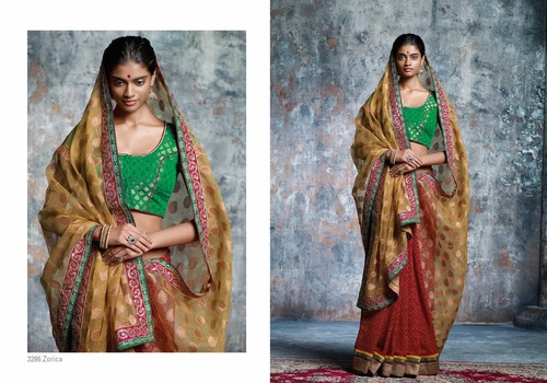 Super Net Embroidery Saree