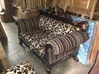 Wood Carved Sofa Set
