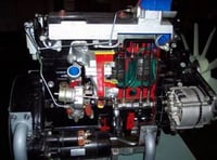WORKING MODEL OF 4 CYLINDER 4 STROKE CI ENGINE AND GEAR BOX