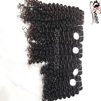 Single Drawn Natural Curl Hair Weft