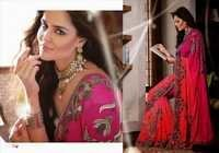 Glamorous Pink Indian Wedding Saree