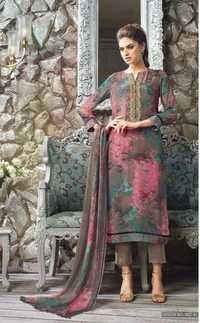Georgette and Chiffon Embroidered salwar suit