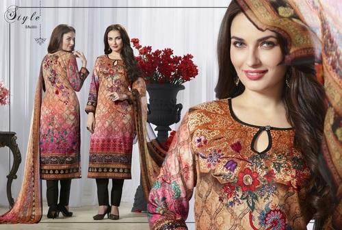 MUlti-Color Pure Silk Salwar Suit