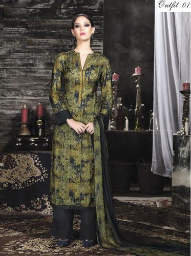 Multi Color Pashmina Silk Suit