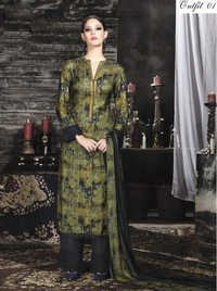 Multi Color Pashmina Silk Suit
