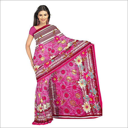 Embroidery Print saree