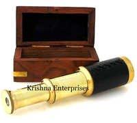 Brass Telescope With Box