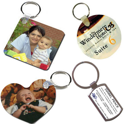 Sublimation Wooden key rings