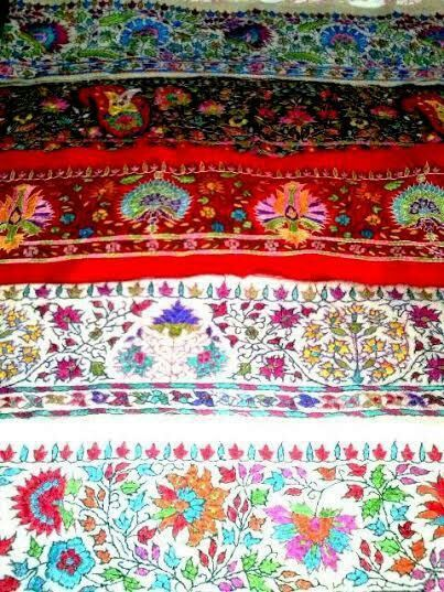 pashmina needle work boarders/antique boarders