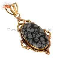Snowflake Obsidian Gemstone Pendant
