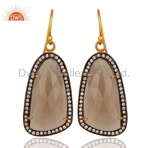 Smoky Quartz Sterling Silver Earrings Jewelry