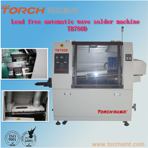 Double wave soldering machine in electric industry for SMT