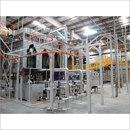 Over Head Conveyor Coating Plant