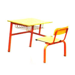School Chair with Desk