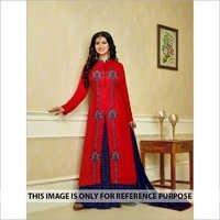 Aashiya Takia Red Lehega Style Suit