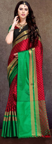 Buy Aura Ahanti Pure Cotton Silk saree online  at Sethnic wholesale in Surat