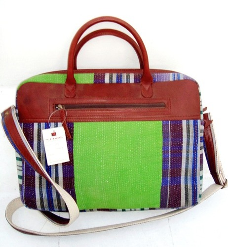 Kantha Leather Bags