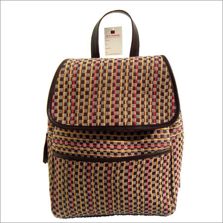 Handwoven fabric bag