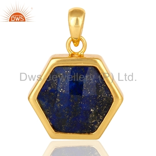 Sterling Silver Lapis Lazuli Gemstone Pendant