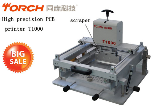 Manual high precision screen printer T1000 in electric industry for SMT