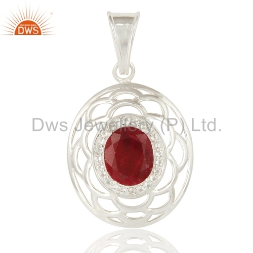 Party Wear 925 Silver Gemstone Pendant