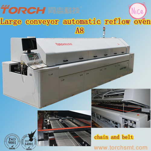 Large Size Lead-free Reflow Oven A8 in electric industry for SMT