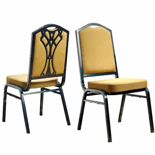 Armless aluminum stacking banquet chair