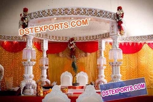 Indian Wedding Ganesha Pillar Mandap