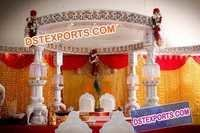 Indian Wedding Ganesha Pillar Mandap