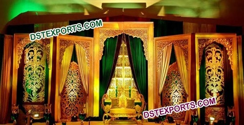 Indian Wedding Hand Carved Backdrop Panel