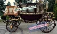 ROYAL BLACK GOLD HORSE CARRIAGE