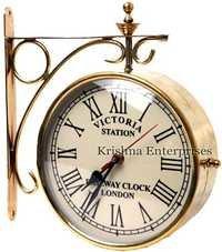 Brass Railway Station Clock