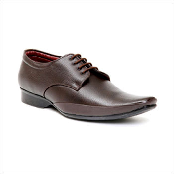 Textured Brown Formal Shoes