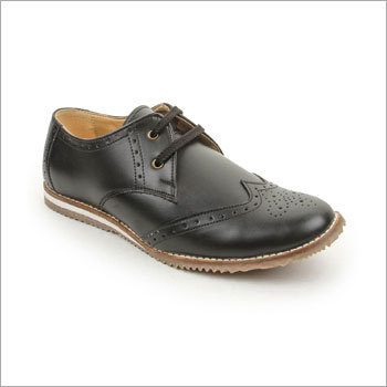 Casual Black Derby Shoes