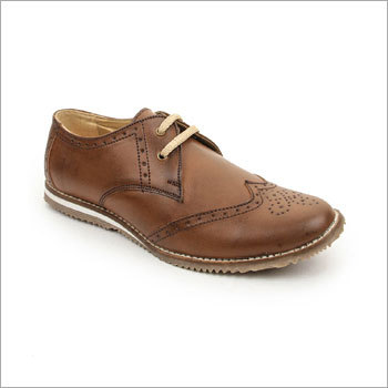 Beige Derby Shoes