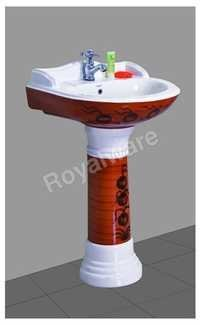 ceramic printed wash basin