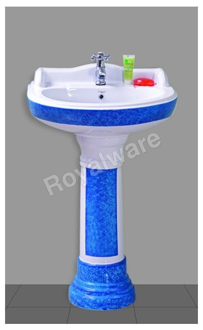 Double Color Pedestal Wash Basin