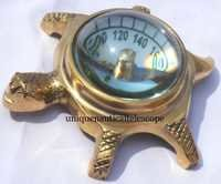 Tortoise Yantra With White Dial Compass