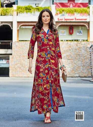 907403c2ebd4 Blue Stylish Cotton Silk Casual Wear kurti - SAREE EXOTICA