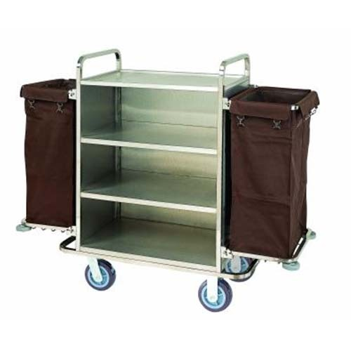 Hotel Laundry trolley with four wheels