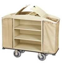 High capacity cleaning service trolley