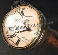 Black Antique Clock Walking Stick