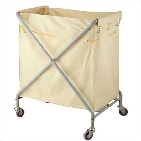 Stainless Steel Frame Hotel Laundry Trolley