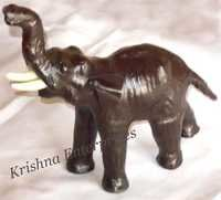 Leather Elephant Statue