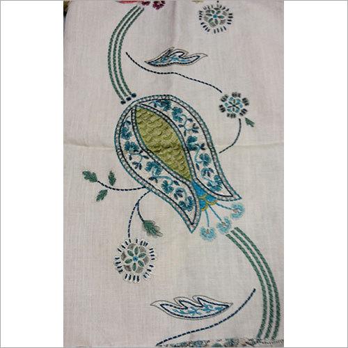 cotton crewel embroidered fabrics