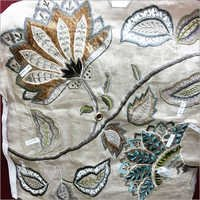 Silk dupion embroidered Fabric