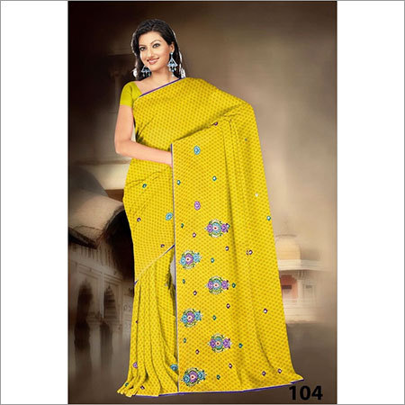 Embroidery saree print