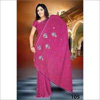 Embroidery sari print