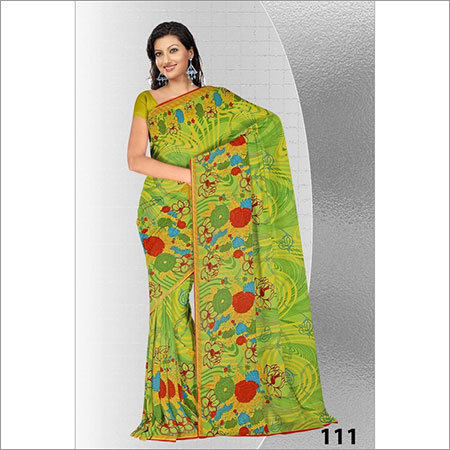 Designer Printed Embroidery Sarees