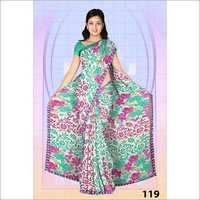 Embroidery Print Saree Manufacture In Surat